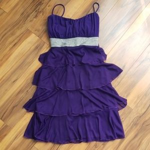 Sweet Storm Junior Dress Size Small Purple Silver